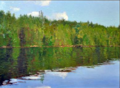 Minnesota Lake - 2010 - Oil On Panel - 11 x 14
