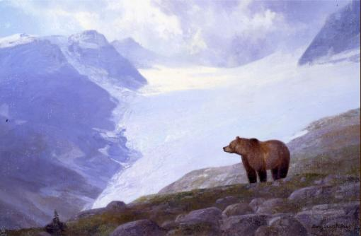 Glacier Grizzly - 1987 - Oil On Panel -  9 x 14