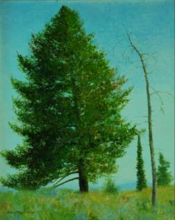 On The Trail, Granite Canyon, Wyoming - 1995 - Oil On Panel - 10 x  8