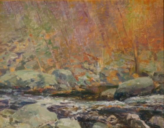The Black River, near Califon, New Jersey - 1992 - Oil On Canvas - 11 x 14