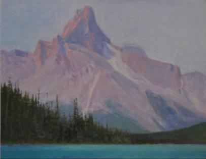 Cathedral Peak, Lake Ohara, Yoho Natl Park, British Columbia, Canada - 1998 - Oil On Panel - 8 x 12